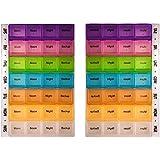 PuTwo Organizer with 7-Daynight Pill Box Reminder Mediplanner - Pack of 2