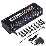Asmuse 9v 8 Way Netzteil Pedal Power Supply Daisy Chain kabel effekt Adapter Rechtwinkliges Splitter Splitterkabel Blei Chord für Gitarre Bass-Effekt Keyboards