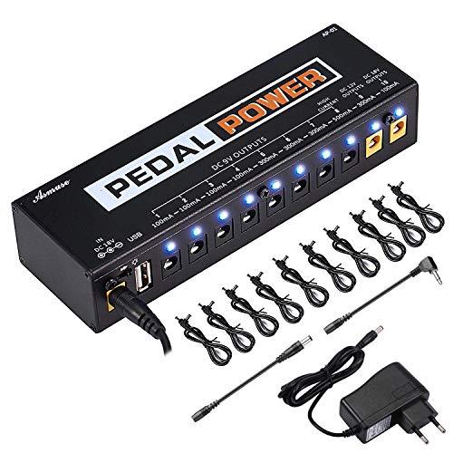 Asmuse 9v 10 Häfen Netzteil Pedal Power Supply Daisy Chain kabel effekt Adapter Rechtwinkliges Splitter Splitterkabel Blei Chord für Gitarre Bass-Effekt Keyboards -
