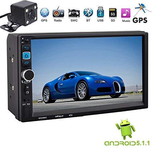 PolarLander 7 FHD kapazitiver Touch Screen 2 Din Android 5.1.1 12V Auto Radio Audio Player Eingebauter Wifi GPS Spiegel Link mit Rückfahrkamera
