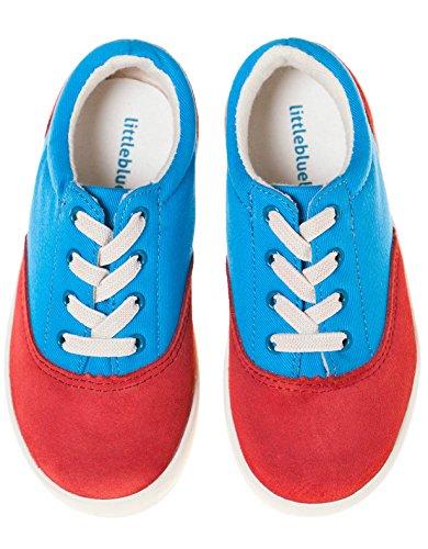 Little Blue Lamb Schuhe Halbschuhe Sneaker 7121 Wildleder & Canvas rot blau Rot Blau