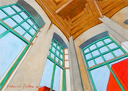 painting-oil-on-paper-interior-architecture-21-x-15-cm-2016-signed-certificate-of-authenticity-inclu
