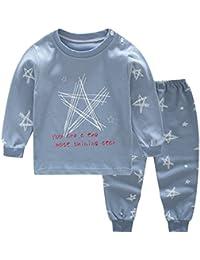 Conjunto de pijamas de recién nacidos, niñas, niños, Meedot, 2 piezas de algodón, manga larga, abrigos de invierno, para niños de 0 a 4 años