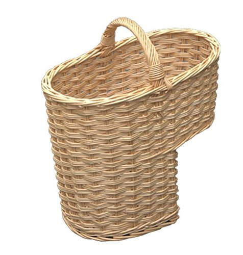 Red Hamper HH026/HOME Single Weave escalier Panier, Osier, Brown, 27 x 42 x 38 cm, Marron
