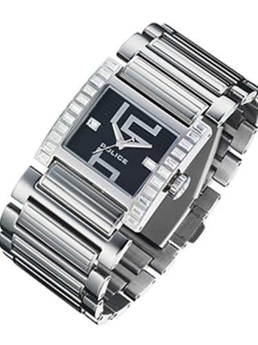 Police PM11748N - Reloj analógico de cuarzo para mujer, correa de acero inoxidable color plateado
