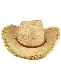 Gleader Moda Cappello Unisex piumato bordo naturale della paglia da cowboy  cappello da Sole da donne 9fd4bbb8963a