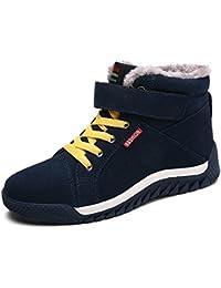 JACKSHIBO Herren Warm Gefütterte Schneestiefel Winterstiefel Outdoor Sneakers