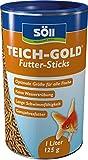 Söll 60100 TeichGold Futter-Sticks - Alleinfuttermittel für alle Teichfische - schwimmfähige Teichsticks  1l
