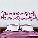 wandaufkleber spruch küche Fais De Ta Vie Un Rêve Und D'Un Reve Une Realite Für Schlafzimmer
