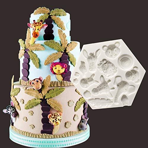 xiaoshenlu stampi Zucchero Torte, Stampo in Silicone per Fondente Torte Dolci Biscotti, Accessori Dolci Natale