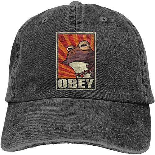 Imagen de view obey the hypnotoad! denim baseball cap men women golf hats adjustable plain cap
