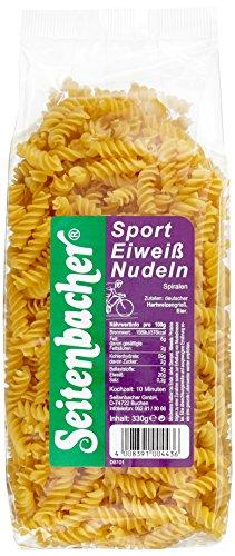 Seitenbacher Sport Eiweiß Nudeln Spiralen, 3er Pack (3 x 330 g) (Protein Pasta)