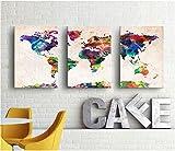 decorazione natalizia Mappa del mondo / dipinti a mano olio pittura / pittura americana astratto decorativo / quadri soggiorno / moderno murale / den ufficio parete pittura / Creative video , 60*80 (single size) , no box art painting - HJ-HOME - amazon.it