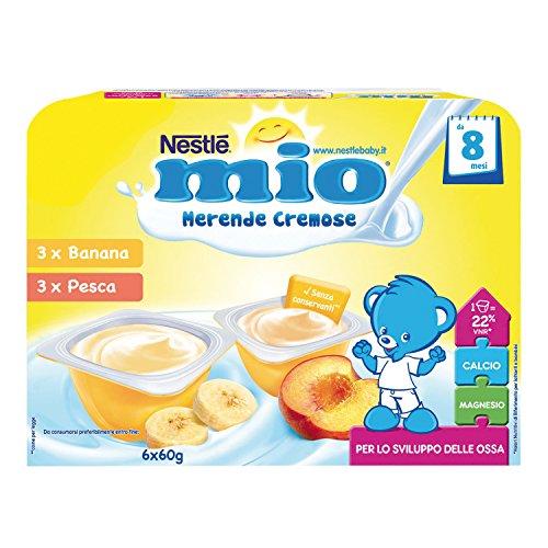 Nestlé Mio merenda cremosa banana e pesca da 8 mesi