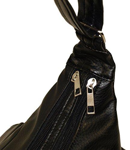Borse A Mano Da Donna In Ecopelle Borse A Mano Shopper 035-1 (grigio) Nero