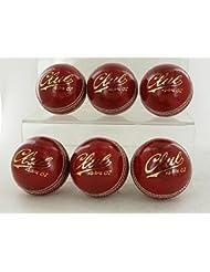 Todos los Nuevos grado A Los Jóvenes–Pelotas de críquet Pack de 6bolas G) 4piezas