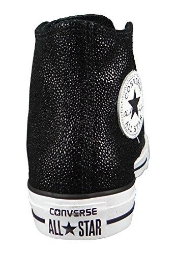 Converse Chucks 553346C CT AS Sting Ray cuir Argent Argent Pur Noir Blanc Black White