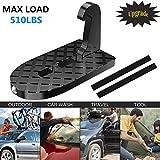 anngrowy Fahrzeug eingehängt U-förmige Slam Latch Doorstep mit Sicherheit Hammer Funktion einfachen Zugriff auf Autodach für Auto, Jeep, SUV (schwarz)