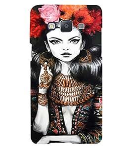 PrintVisa Beautiful Girl Art 3D Hard Polycarbonate Designer Back Case Cover for Samsung Galaxy A5