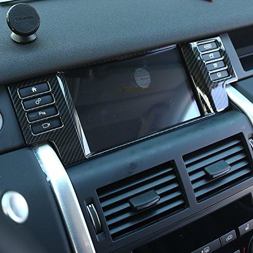 Carobon Fibre Style Plastique ABS Cadre de décoration Panneau de navigation GPS pour Discovery Sport Accessoires Auto