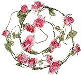 Heavenly Flower Garland - Royal Pink Rose