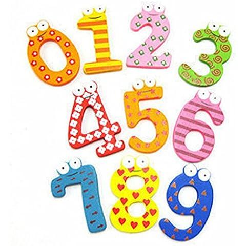 Viskey las letras del alfabeto y números de madera Imanes de nevera imanes, madera, 10pcs, Style1