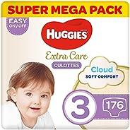 Huggies Extra Care Pants - Size 3, Super Mega Pack, 6-11 kg, 176 Diaper Pants