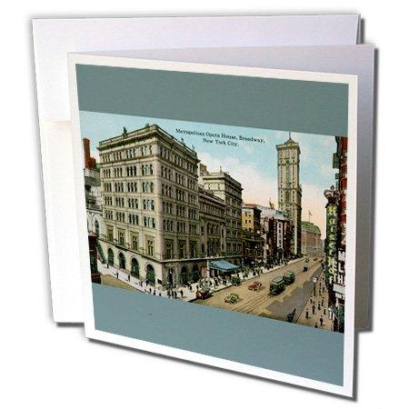Metropolitan Oper, Broadway, New York City-Grußkarten, 15,2x 15,2cm, Set 6(GC 170846_ 1)