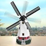 Energia Solare LED,Mulino a vento ornamentale da giardino con luce,Giardino Decorazione Di Ornamento Da esterno Caratteristica Lampada