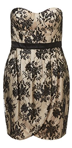 Isla Black and Nude Lace Short Dress