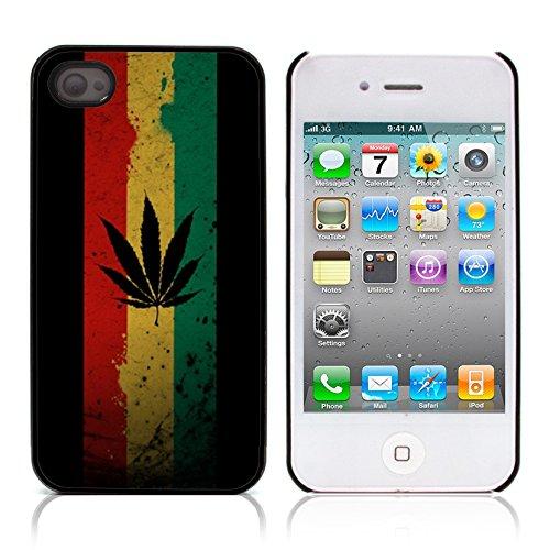 Graphic4You Marihuana Cannabis Hanf Blatt Raucher Design Harte Hülle Case Tasche Schutzhülle für Apple iPhone 4 und 4S Design #6