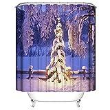 Hoomall Duschvorhang Wasserdicht Schimmelfrei Textil Weihnachtsbaum Druck Badezimmer Duschvorhänge Größe Wählbar