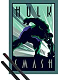 1art1® Poster + Suspension : l'incroyable Hulk Poster (91x61 cm) Marvel Comics, Art Deco Et Kit De Fixation Noir