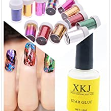 Caliente Chica 12pc Pegatina de Uñas Arte transferencia Foil Nail Art DIY Nail Art Decoraciones &