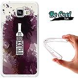 BeCool® Fun - Coque Etui Housse en GEL Flex Silicone TPU Samsung Galaxy A5 2016 , protège et s'adapte a la perfection a ton Smartphone et avec notre design exclusif.Il est vin pile