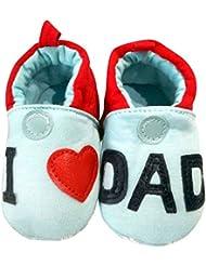 C2BB - Chaussons bébé enfant toile et tissu   I love dad