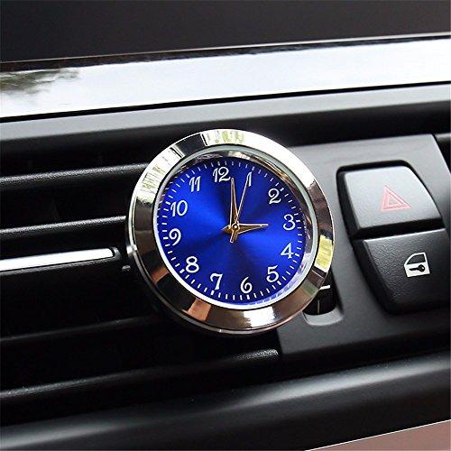 Zeitplan Elektronische (Metall auto Clock/Auto/Fahrzeug Quarz Uhren/Zeitplan/Fahrzeug elektronische Uhr/geänderten Fahrzeug elektronische Tabelle/Auto Zubehör, Silber)