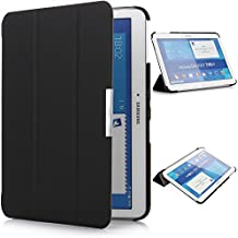 iHarbort® Samsung Galaxy Tab 4 10.1 Funda - ultra delgado ligero Funda de piel de cuerpo entero para Samsung Galaxy Tab 4 10.1 (T530 T535), con la función del sueño / despierta (negro)