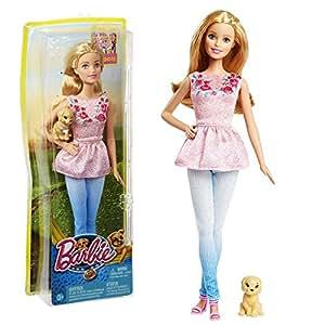 Barbie - Family Poupée Barbie avec le Chien - Les Grands Chiens Aventure