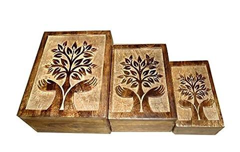 icrafts Tree of Life Set von 3Schmuck Schmuckkästchen Andenken Aufbewahrungsbox Organizer
