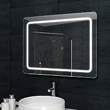 luxaqua con diseo de espejo con luz espejo del bao iluminacin led en los