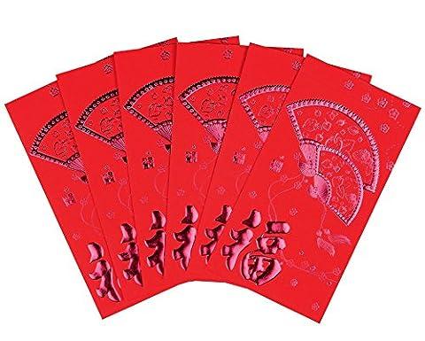 Art Beauty Enveloppes Rouge pour nouvel an chinois, 29pièces/paquet rouge Lai Voir/Hong Bao pour printemps Festival, mariage, graduation, anniversaire,,, et bébé