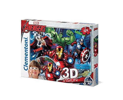 Clementoni 20606 - Puzzle 3D Avengers Visione Puzzle, 104 Pezzi