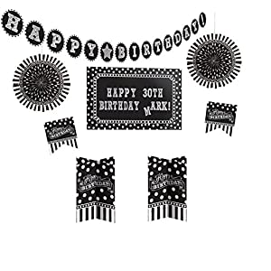 Amscan 241143 Happy Birthday Customisable Decoration Kit