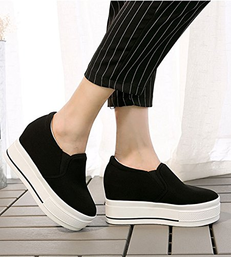 LFEU Mocassin Femme Simple Basket Mode Courant Loisir Confortable Antidérapage faishion Noir