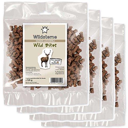 Artikelbild: Wildsterne Hundeleckerli Wild Bites, 4er Pack (4 x 125 g)