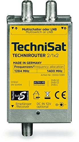 TechniSat TECHNIROUTER MINI 2/1x2 - Einkabellösung / Unicable für Twin-Empfang, bis zu 2 Satelliten-Positionen über ein Kabel. Angeschlossene Geräte (Sat-Receiver, TV) müssen Unicable unterstützen!