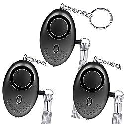 Persönlicher Alarm, 130dB Self Defense Alarm Schlüsselanhänger, Notruf -Alarme mit LED -Licht für Frauen, Mädchen, Kinder, Schüler, Männer, Alte Leute,3 Pack