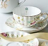 Kelly' Harvest House Bone China Keramik Tee Tasse Kaffeetasse & Untertassen Sets Kaffeetasse mit Gold Detail, Kaffeetasse