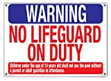 "Warnschild ""Warning No Lifeguard"" von Poolmaster"